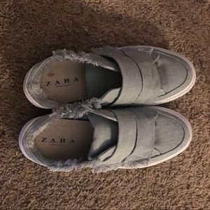 Zara denim mule sneakers